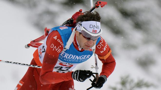 Ole Einar Bjorndalen en pleine action