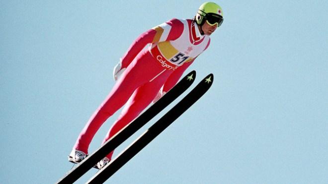 Horst Bulau en plein saut