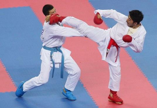 Le karaté est l'un des sports que l'on espère ajouter au programme olympique. Photo : Une compétition de karaté aux Jeux asiatiques de 2014.