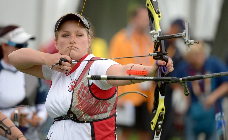 Georcy-Stephanie Thiffeault Picard en action aux Jeux panaméricains de Toronto, en juillet 2015.