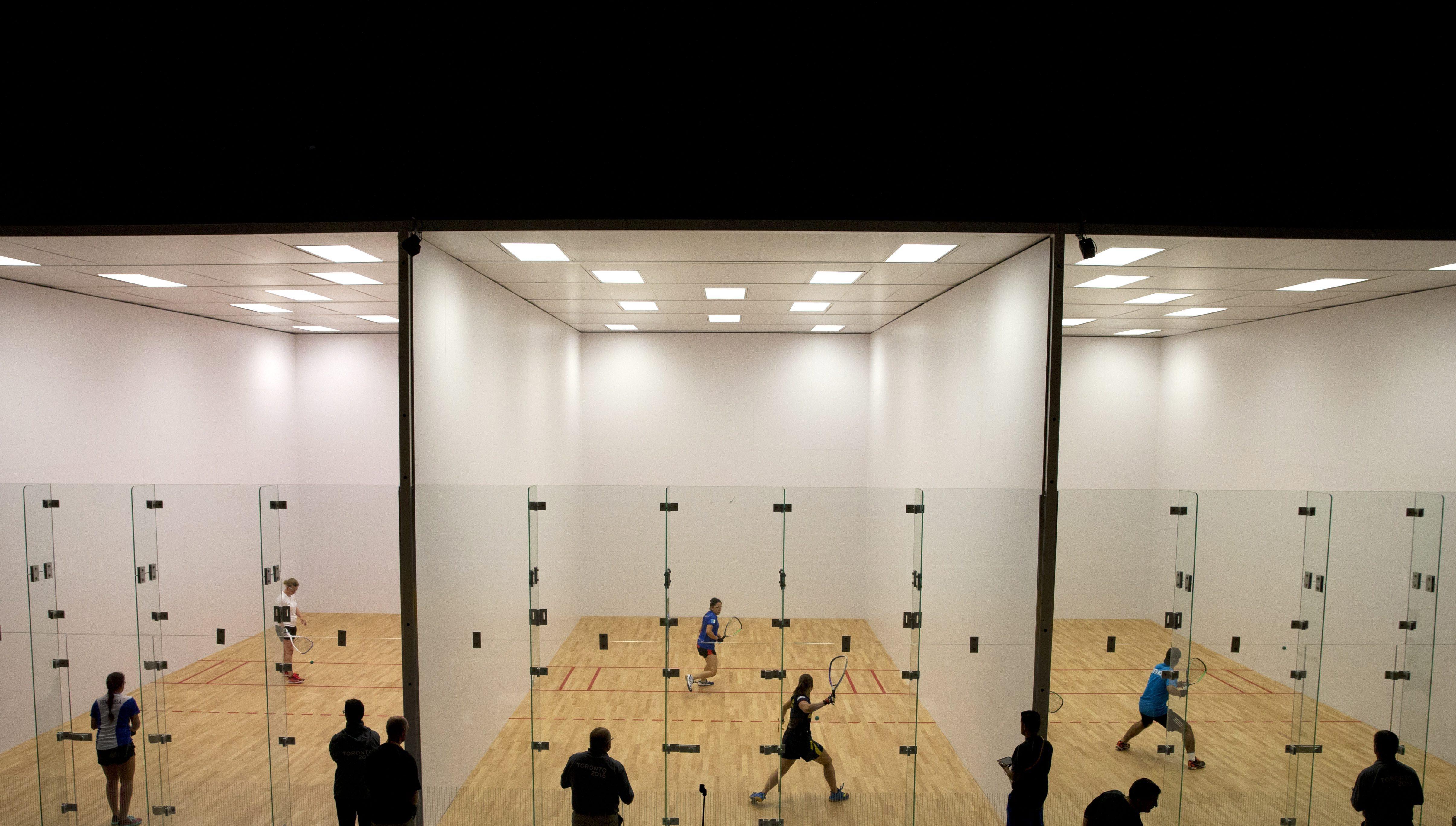 Les terrains de racquetball des Jeux panaméricains de Toronto.