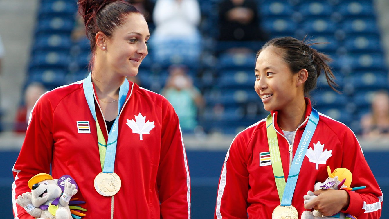 Gabriela Dabrowski avait gagné l'or avec Carol Zhao aux plus récents Jeux panaméricains en double féminin.