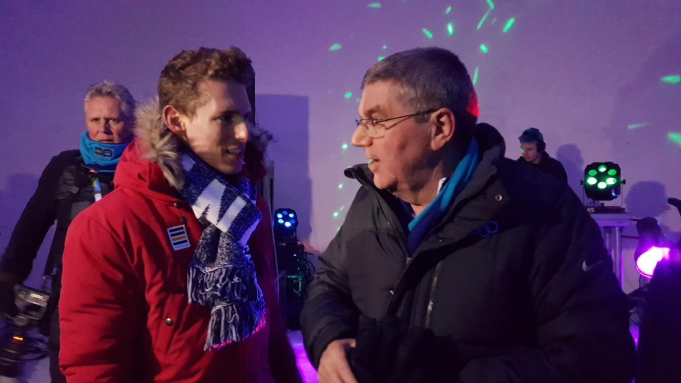 En grande discussion avec le président du Comité international olympique, Thomas Bach, au festival Sjoggfest.