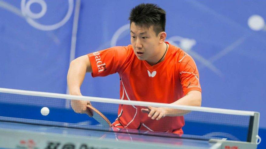 Eugene Wang au Tournoi de qualification olympique nord-américain. (Photo: Table Tennis Canada).