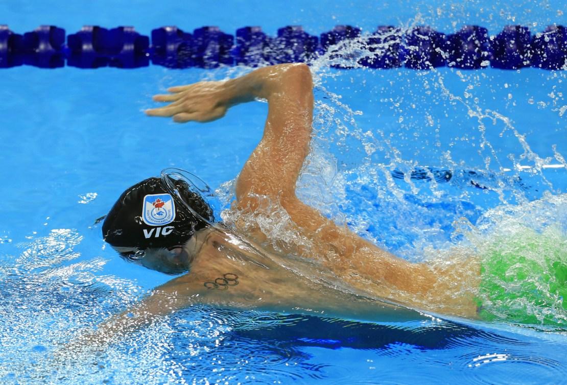 Ryan Cochrane aux essais olympiques (Photo: Vaughn Ridley).
