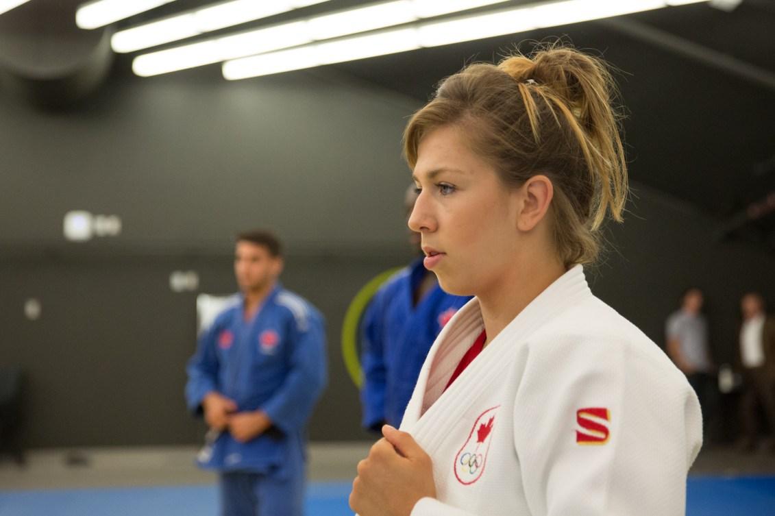 Catherine Beauchemin-Picard lors d'un entrainement à l'Institut national du sport du Québec, le 28 juin 2016.