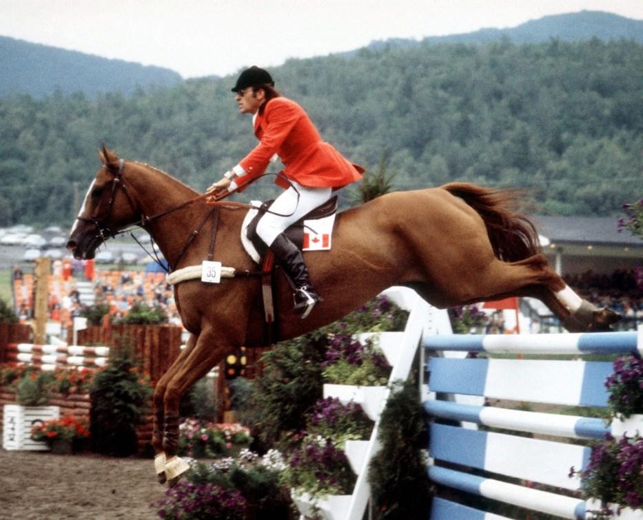 Canada's Michel Vaillancourt rides Branch County in an equestrian eventat the 1976 Montreal Olympic games. (CP PHOTO/ COC/RW) Michel Vaillancourt du Canada monte Branch County aux sports équestres aux Jeux olympiques de Montréal de 1976. (Photo PC/AOC)
