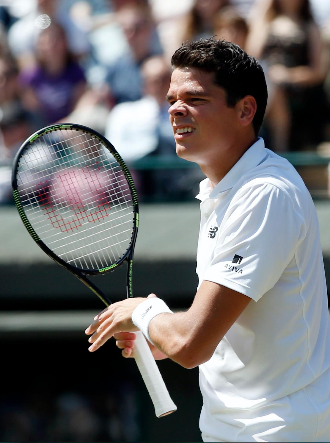 Victoire du Canadien Milos Raonic à Wimbledon face à Sam Querrey