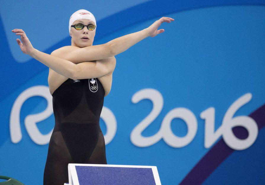 Penny Oleksiak remporte l'argent au 100 m papillon à Rio 2016, le 7 août 2016.