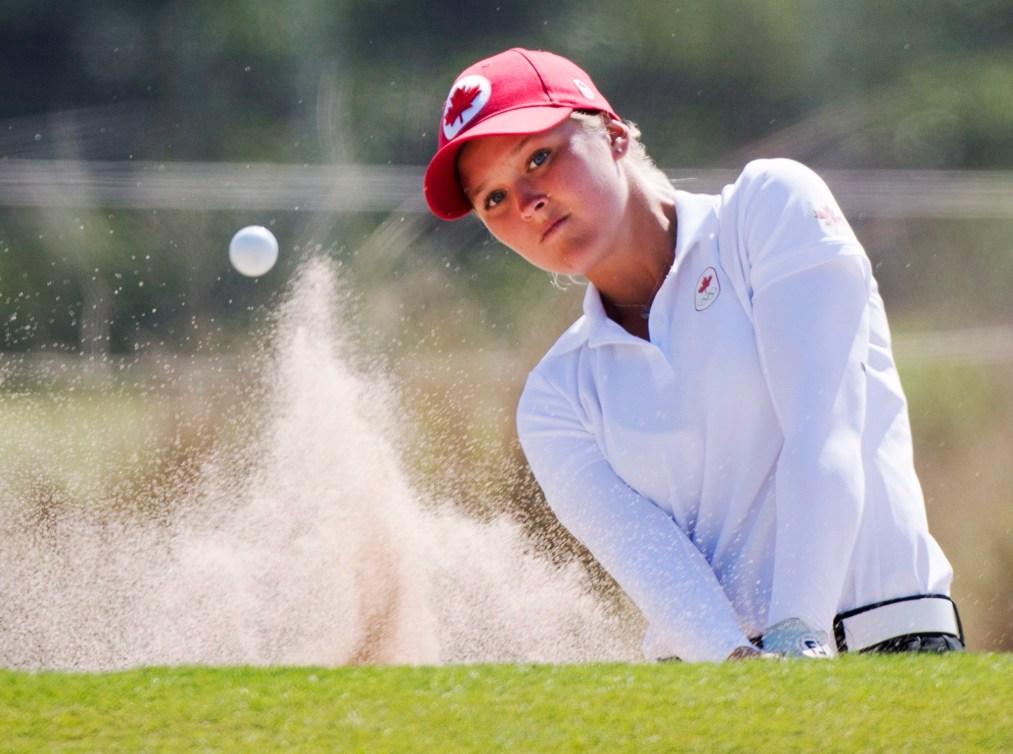 Brooke Henderson a entrepris son tournoi olympique mercredi.