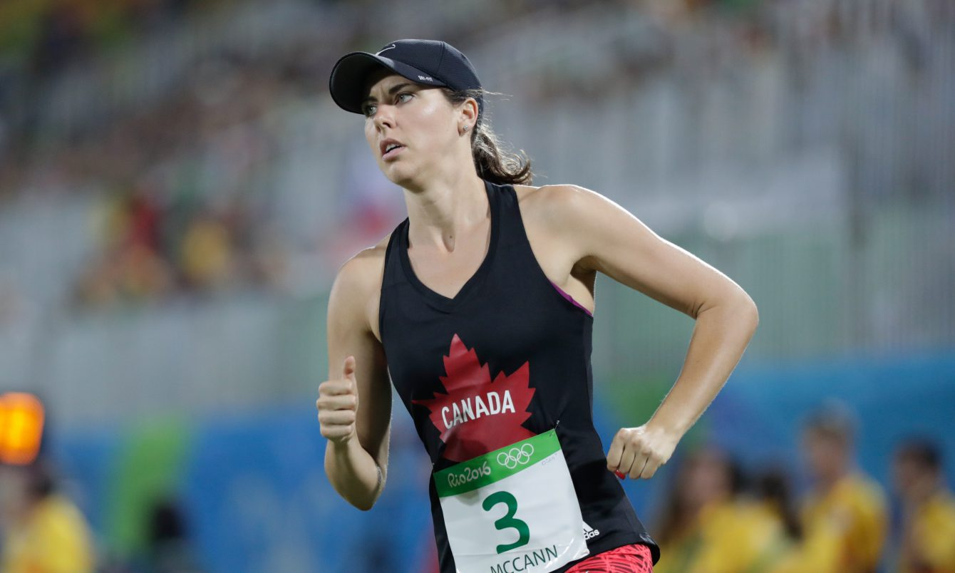 Melanie McCann, pendant l'épreuve combinée du pentathlon moderne, le 19 août 2016 à Rio. COC Jason Ransom