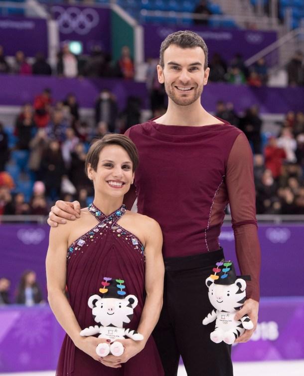 Meagan Duhamel et Eric Radford aux Jeux olympiques de PyeongChang.