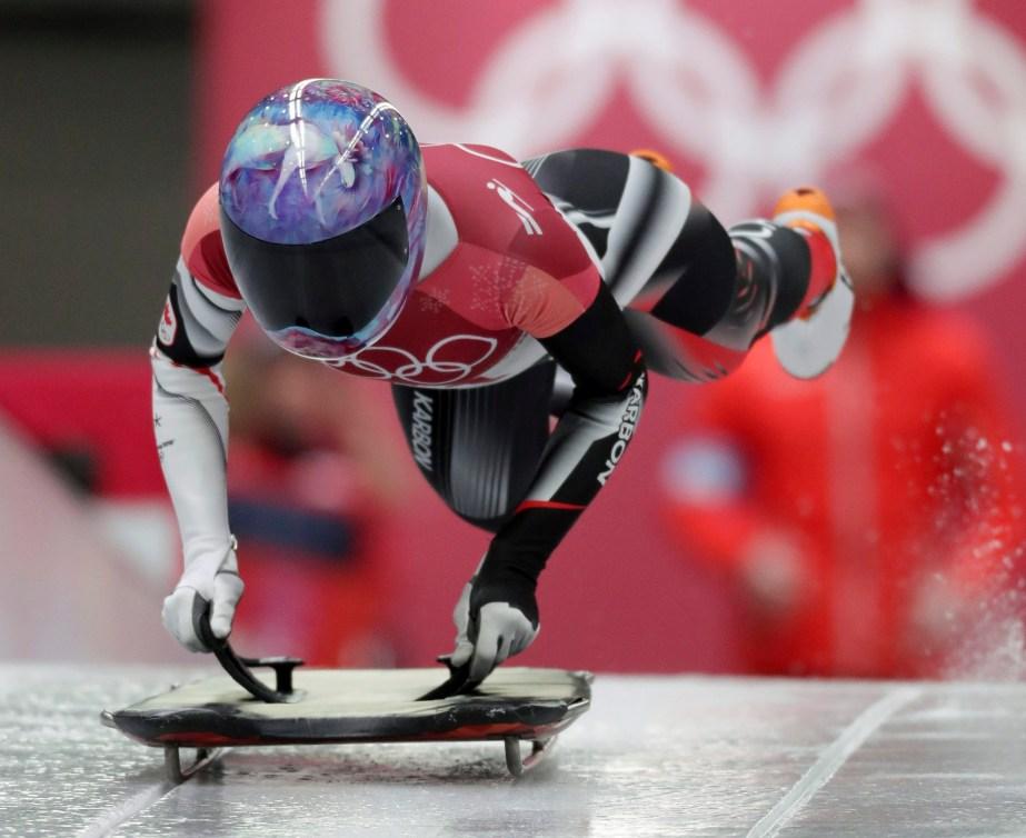 Mirela Rahneva effectue son premier départ des Jeux de PyeongChang. (AP Photo/Michael Sohn)