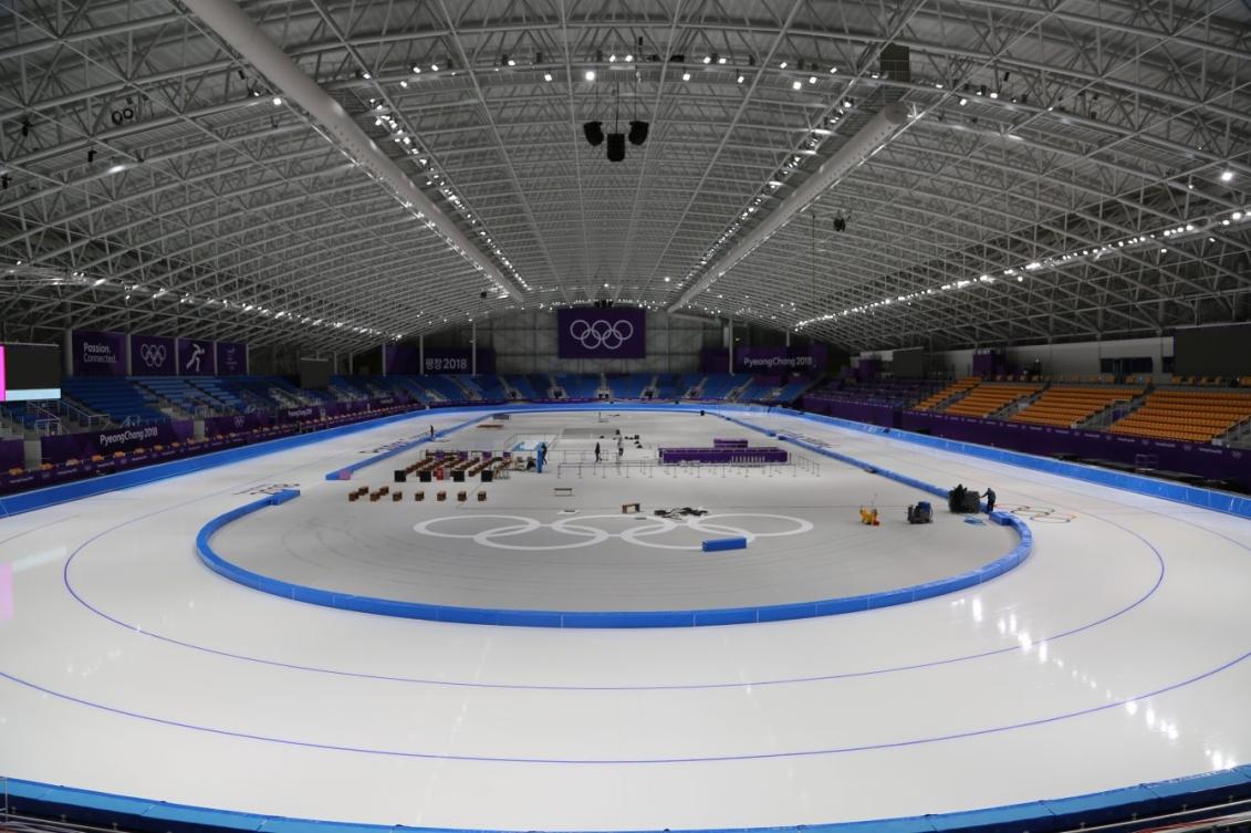L'Ovale de Gangneung accueuillera les épreuves de patinage de vitesse sur longue piste.