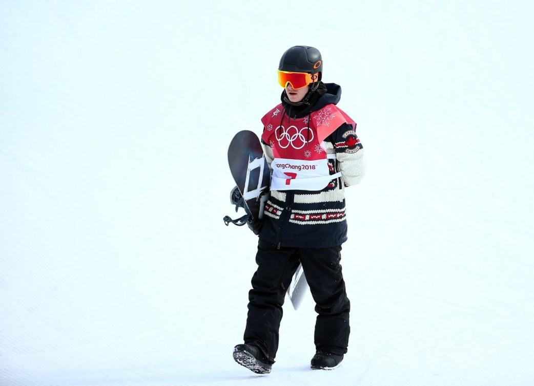 Le Canadien Sébastien Toutant remporte l'or en finale du big air hommes au Centre de saut à ski d'Alpensia lors des Jeux olympiques d'hiver de PyeongChang2018 en Corée du Sud le 24 février 2018. (Photo: Vaughn Ridley/COC)