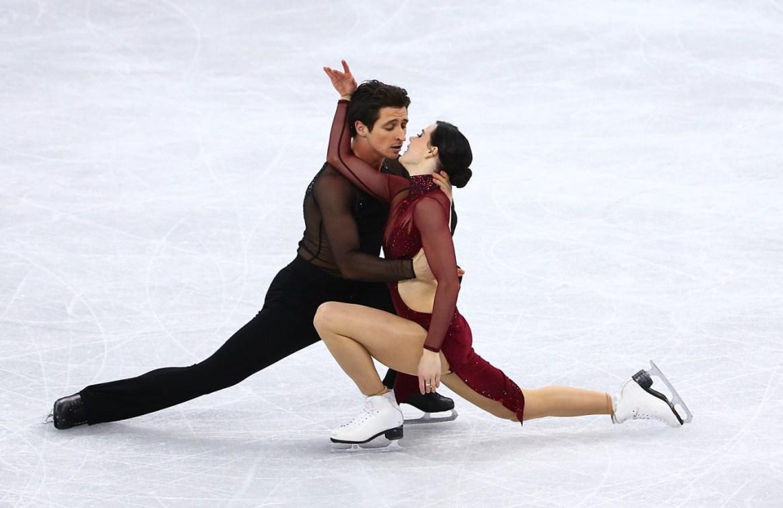 Tessa Virtue et Scott Moir patinent leur programme libre en danse sur glace aux Jeux olympiques de PyeongChang, le 20 février 2018. Photo COC/Vaughn Ridley