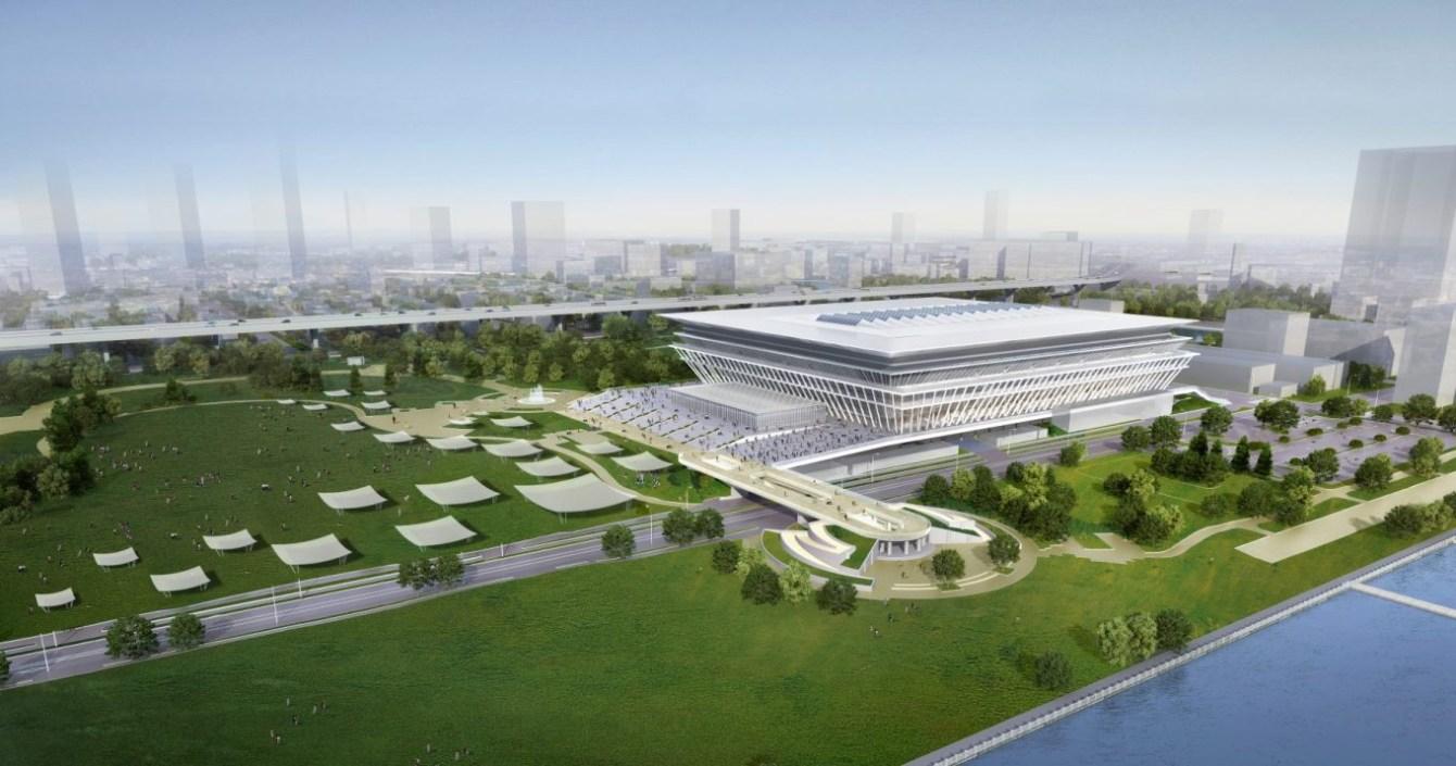 Centre olympique de natation (Images simulées en octobre 2015 - gouvernement métropolitain de Tokyo)