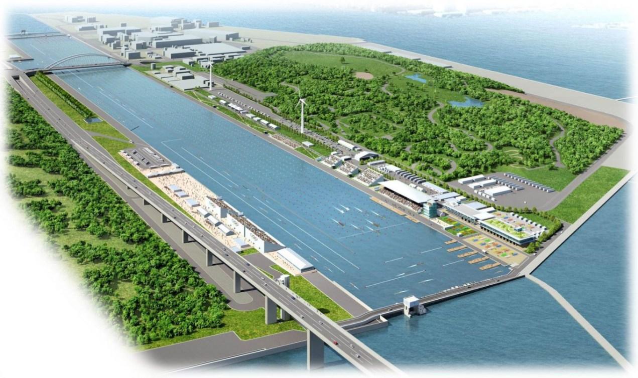 Canal de Sea Forest (Images simulées en mai 2016 - gouvernement métropolitain de Tokyo)