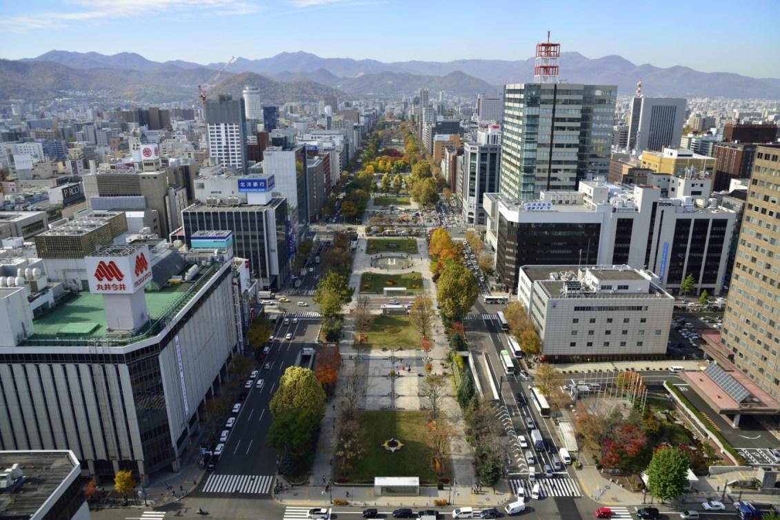 Vue du Parc Odori de Sapporo