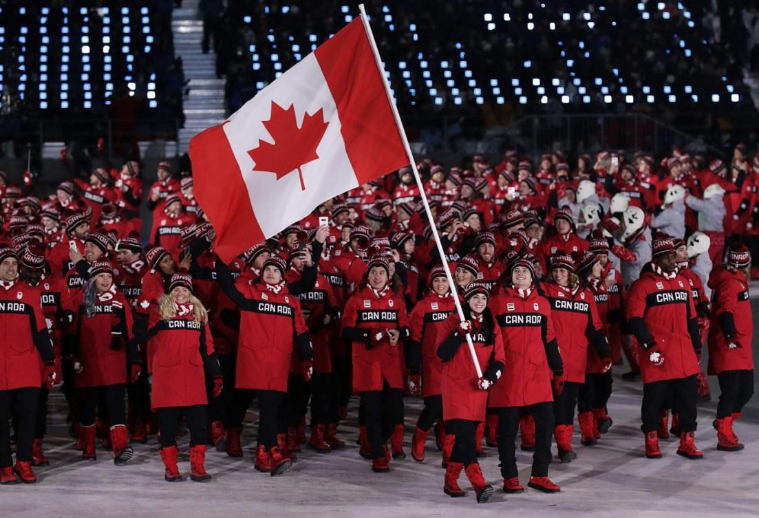 Équipe Canada à la cérémonie d'ouverture de PyeongChang 2018