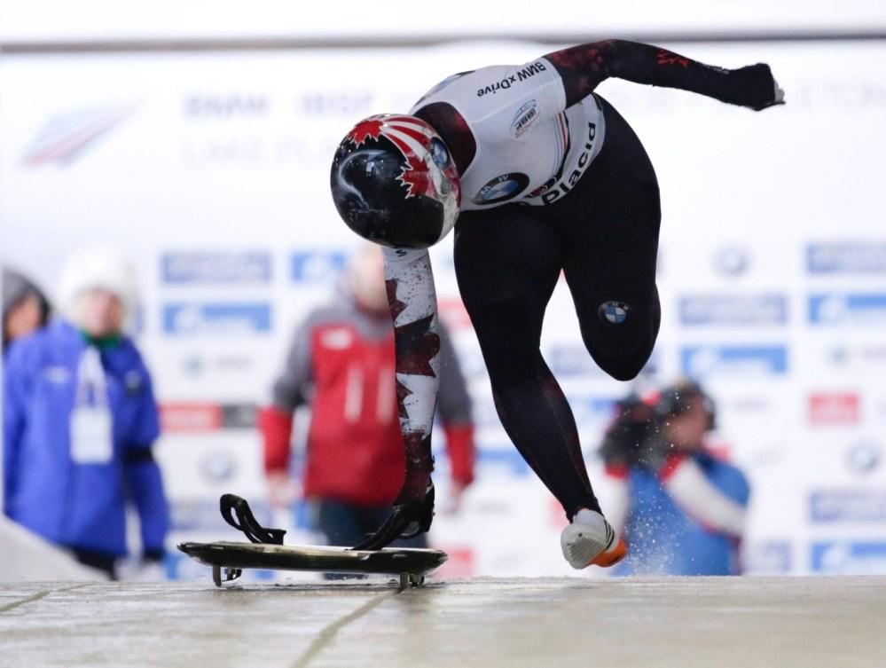 Jane Channell amorce sa première descente à la Coupe du monde de skeleton de Lake Placid