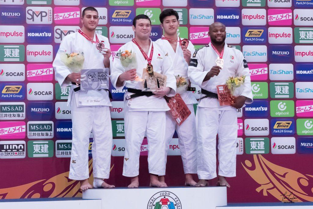 Shady El Nahas sur le podium