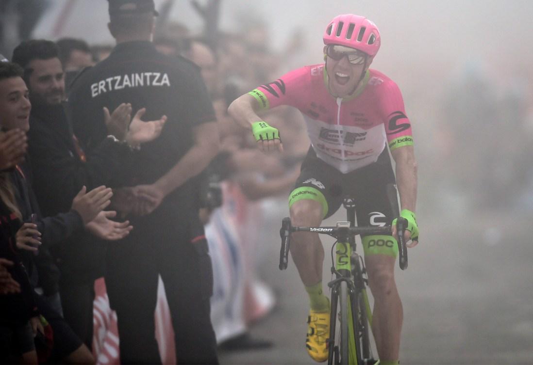Mike Woods pendant la 17e étape de la Vuelta 2018