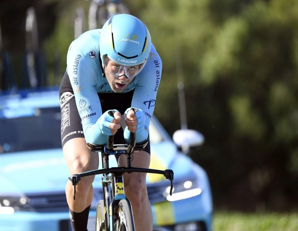 Hugo Houle lors d'une étape du Tour Poitous-Charentes