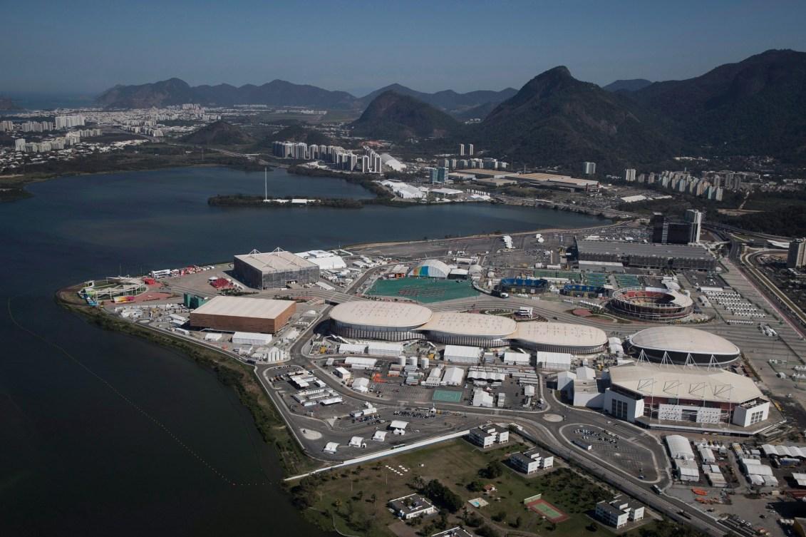 Vue aérienne du parc olympique de Rio 2019