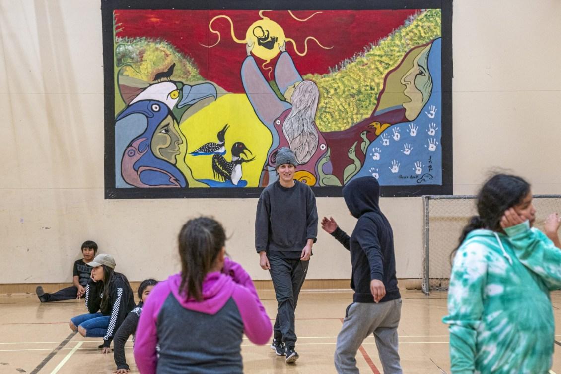 Une murale créée par les élèves.