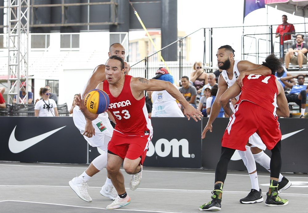 Un joueur de basketball avec le ballon