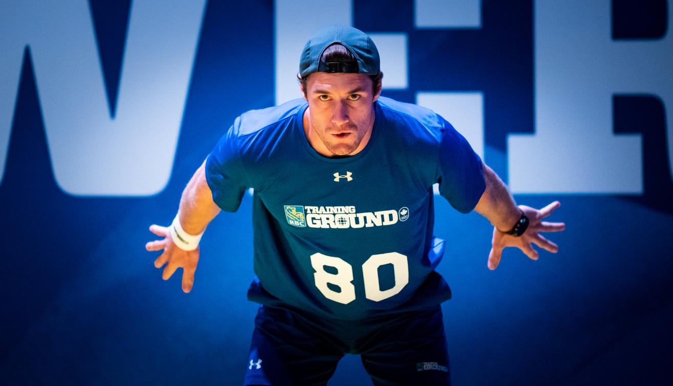 Evan Bezemer lors d'un événement du Camp des recrues RBC