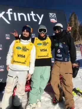 Podium masculin de ski demi-lune